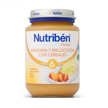 nutriben-manzana-melocoton-con-cereales-potito-junior-200-gr